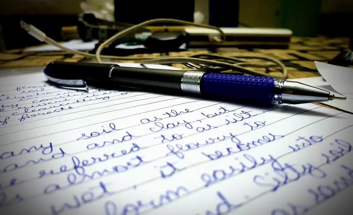 Desk Table Pen Paper Study Student