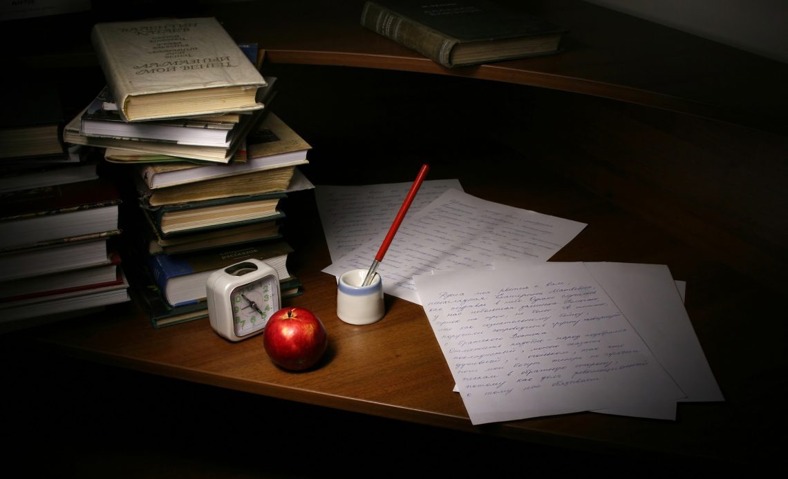 Still Life With Inkwell Letter Correspondence Table